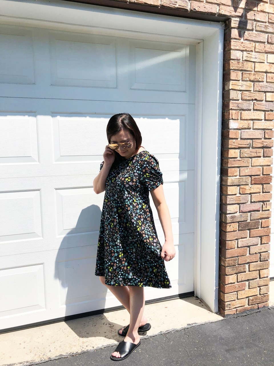 Floral Puff Sleeve Dress 3