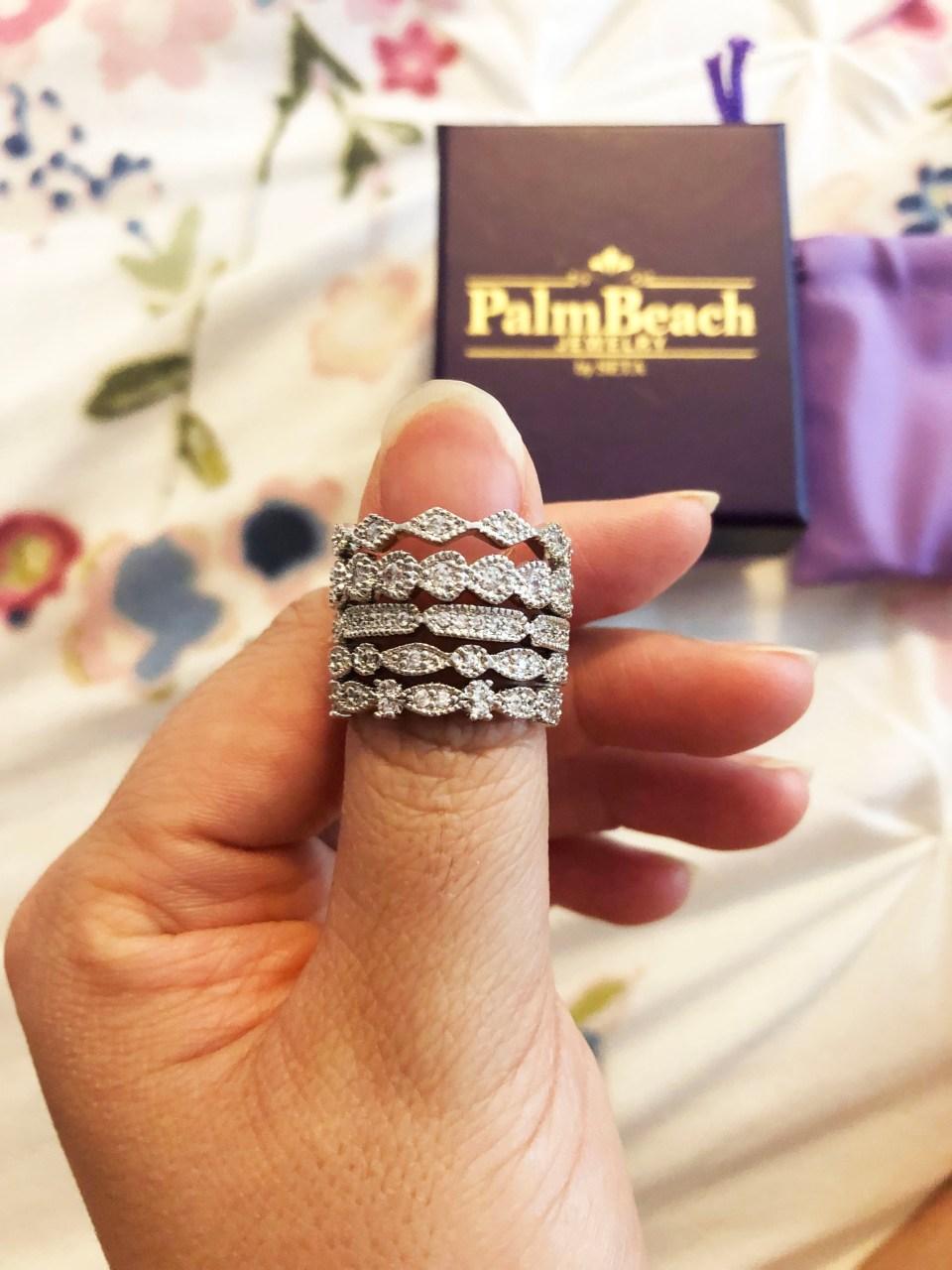 PalmBeach Jewelry - Eternity Ring Stack 10
