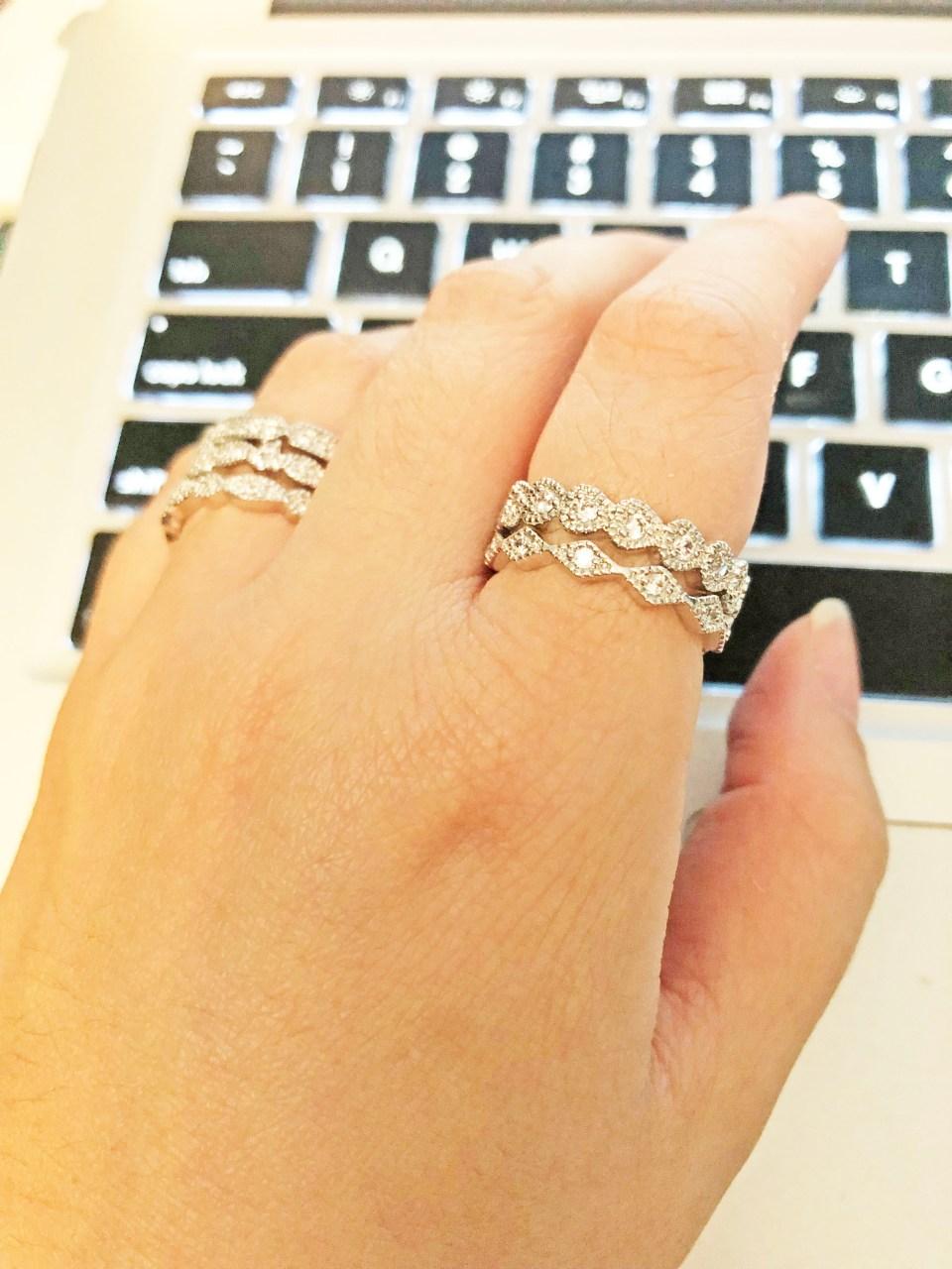 PalmBeach Jewelry - Eternity Ring Stack 11