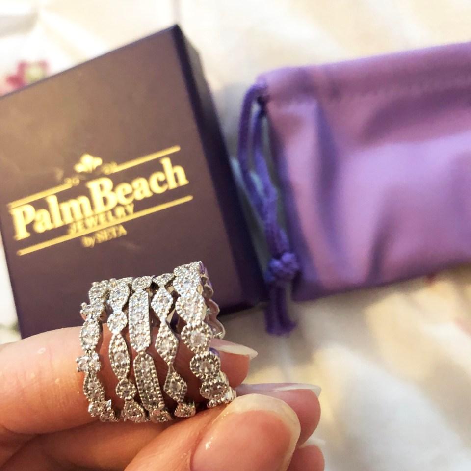 PalmBeach Jewelry - Eternity Ring Stack 2