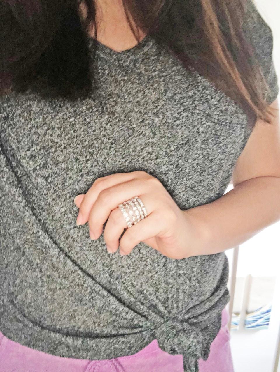PalmBeach Jewelry - Eternity Ring Stack 8