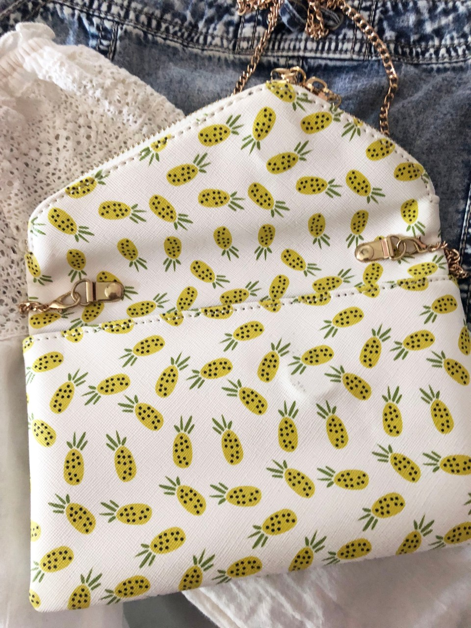 Pineapple Foldover Purse 2