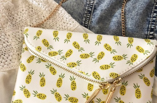 Pineapple Foldover Purse