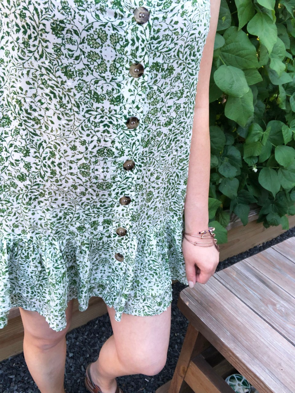 Sage Green Button Front Dress 15