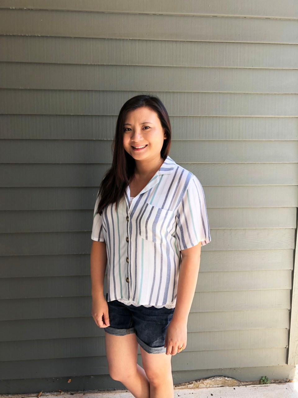 Blue Striped Getaway Shirt 10
