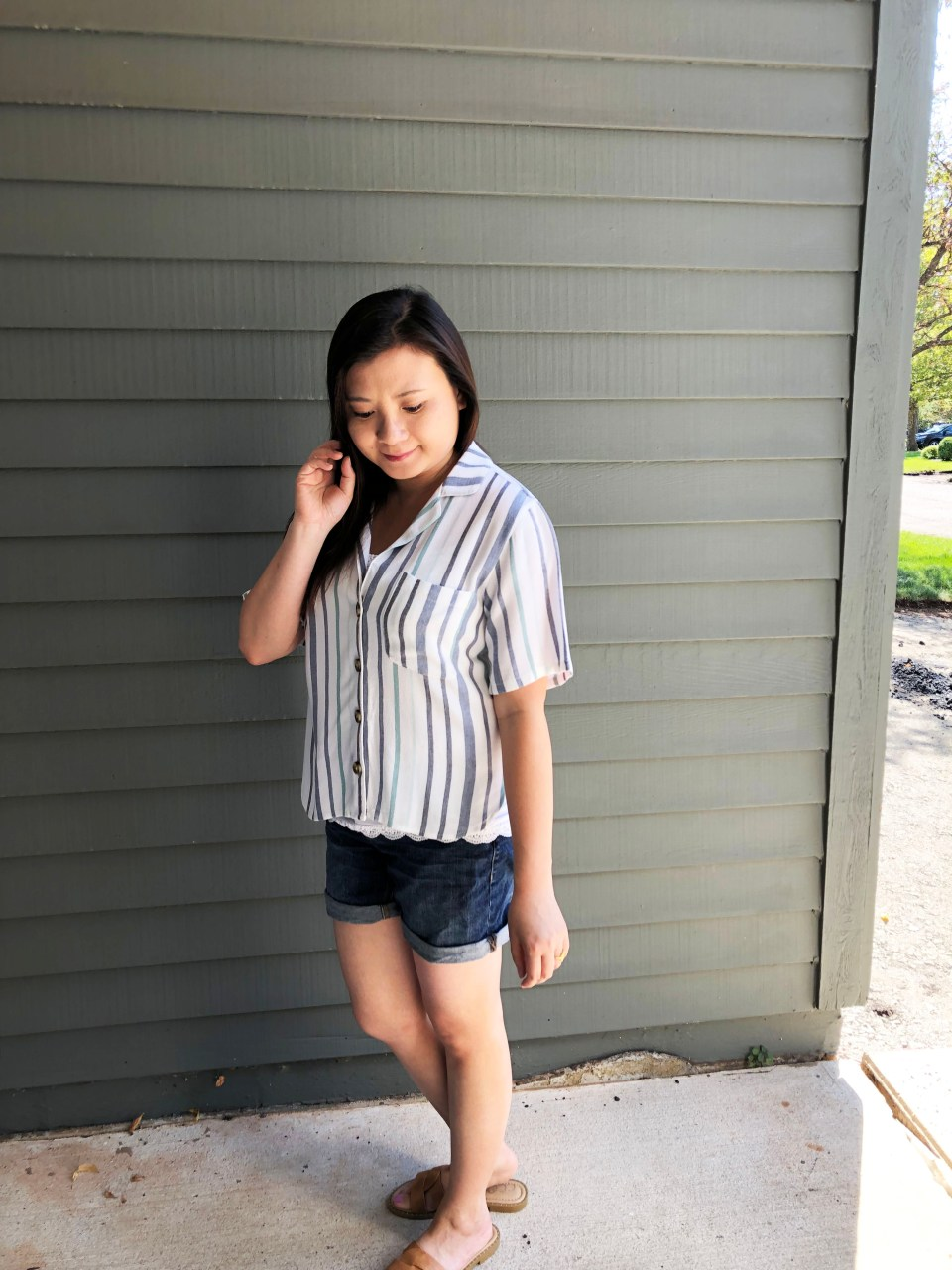 Blue Striped Getaway Shirt 9