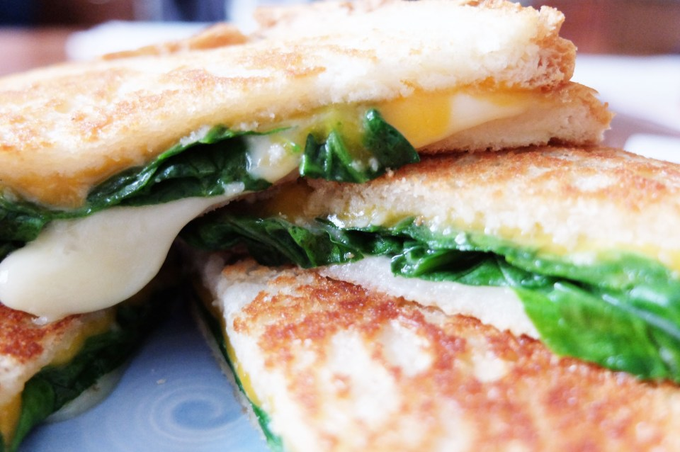 Grilled Spinach & Cheese Sandwich 9