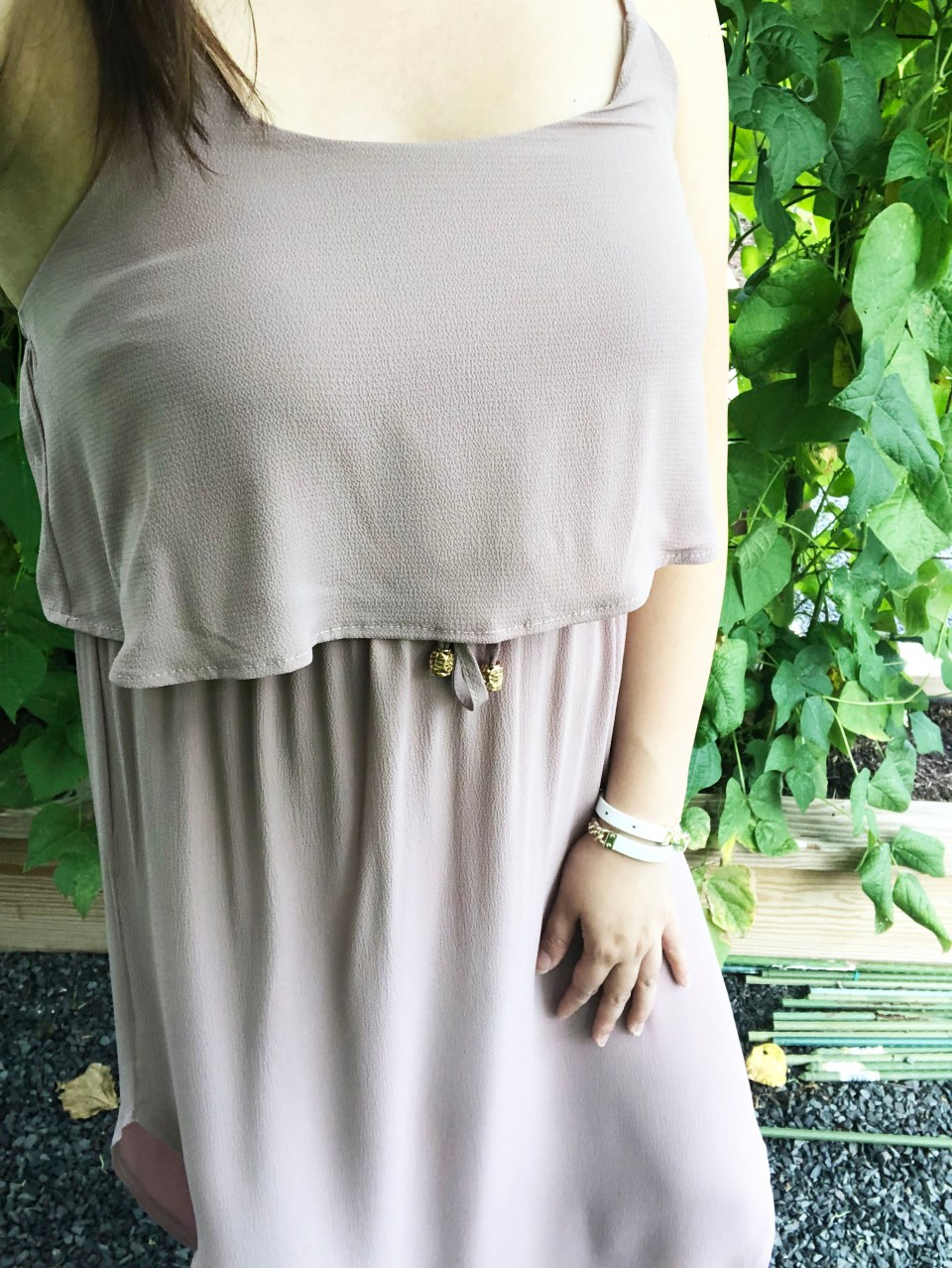 Mauve Split Midi Dress 21