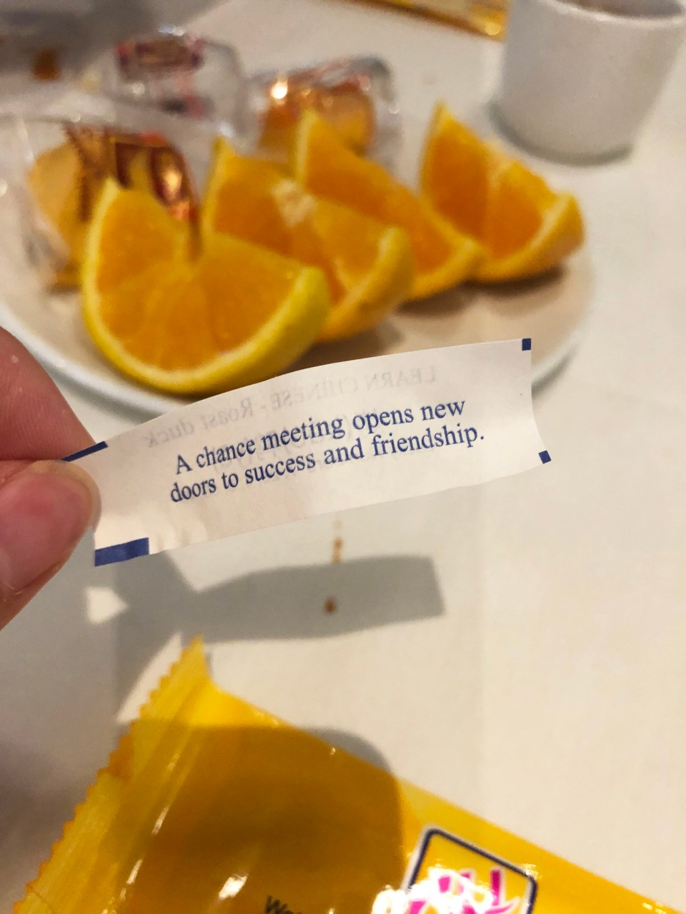 Chef Yang's 46 - Fortune Cookies & Oranges