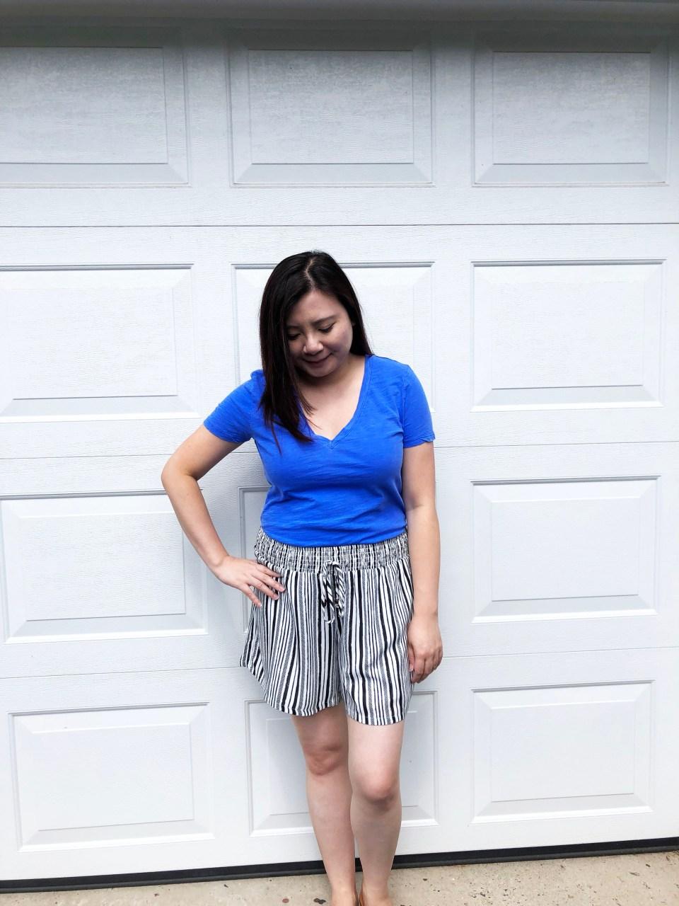 Gauze Striped Shorts 1