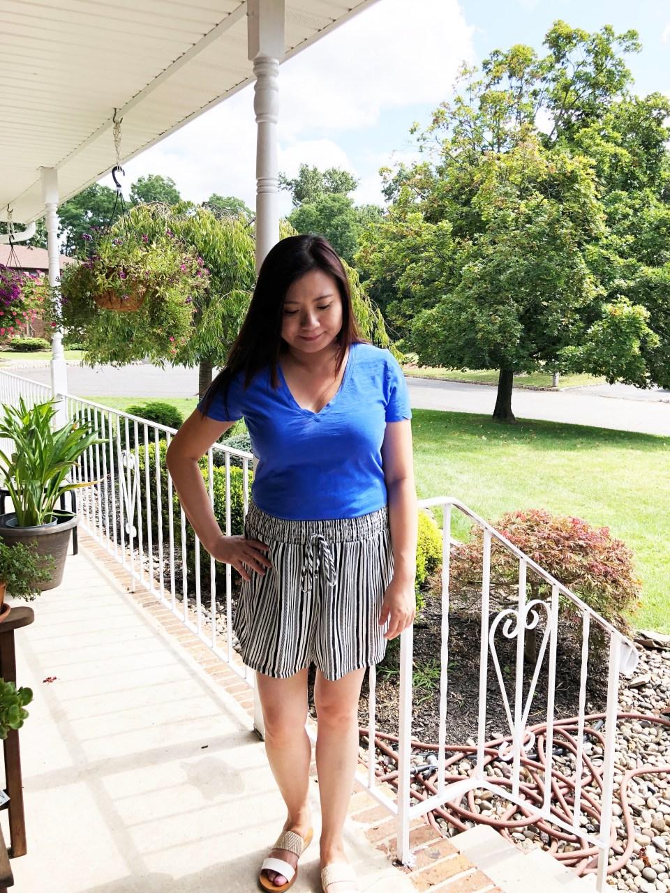 Gauze Striped Shorts 4