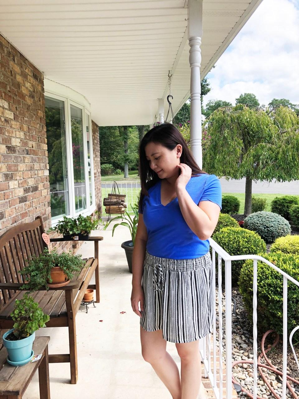 Gauze Striped Shorts 6