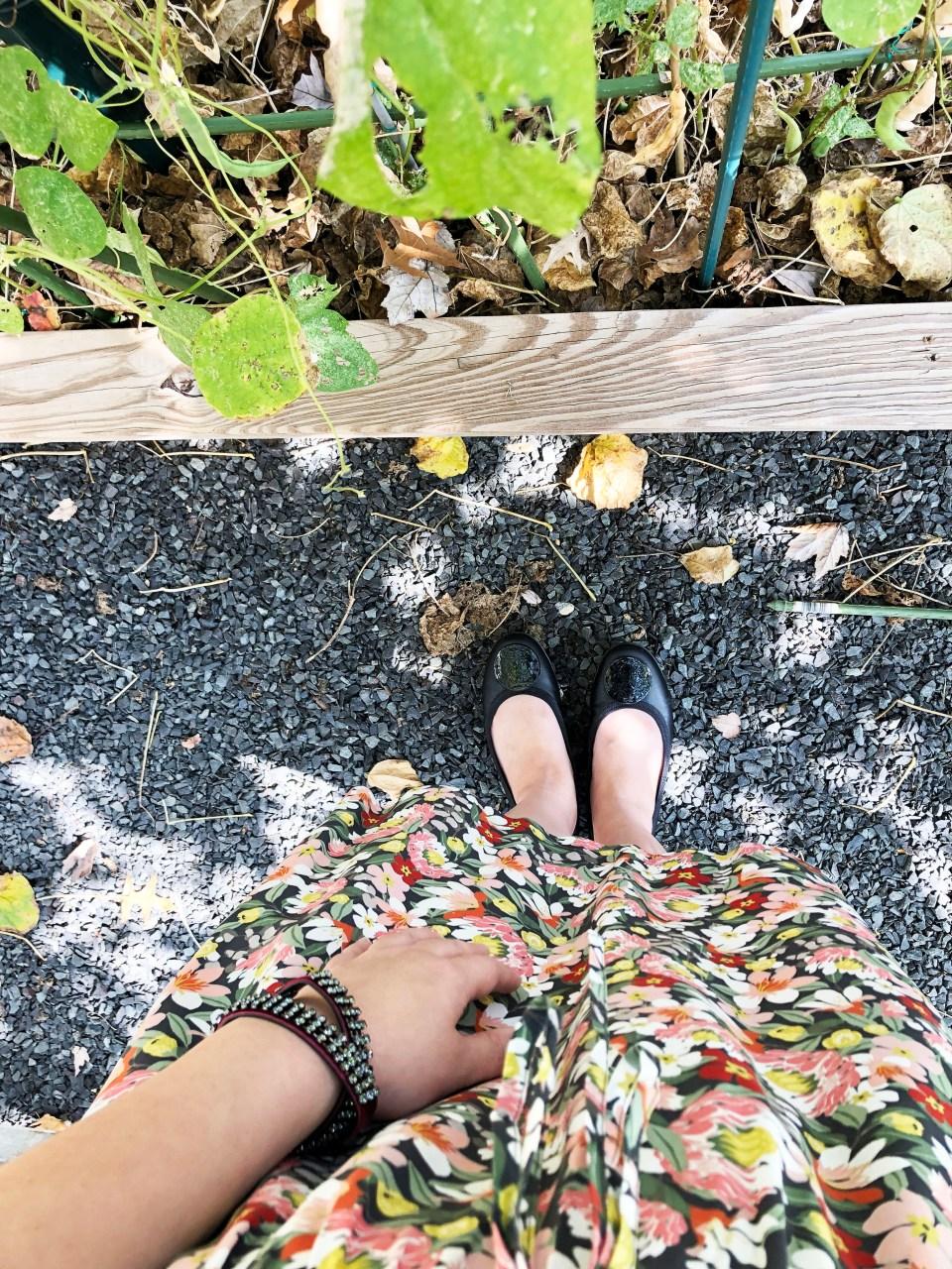 Floral Ruffle Drawstring Dress 17