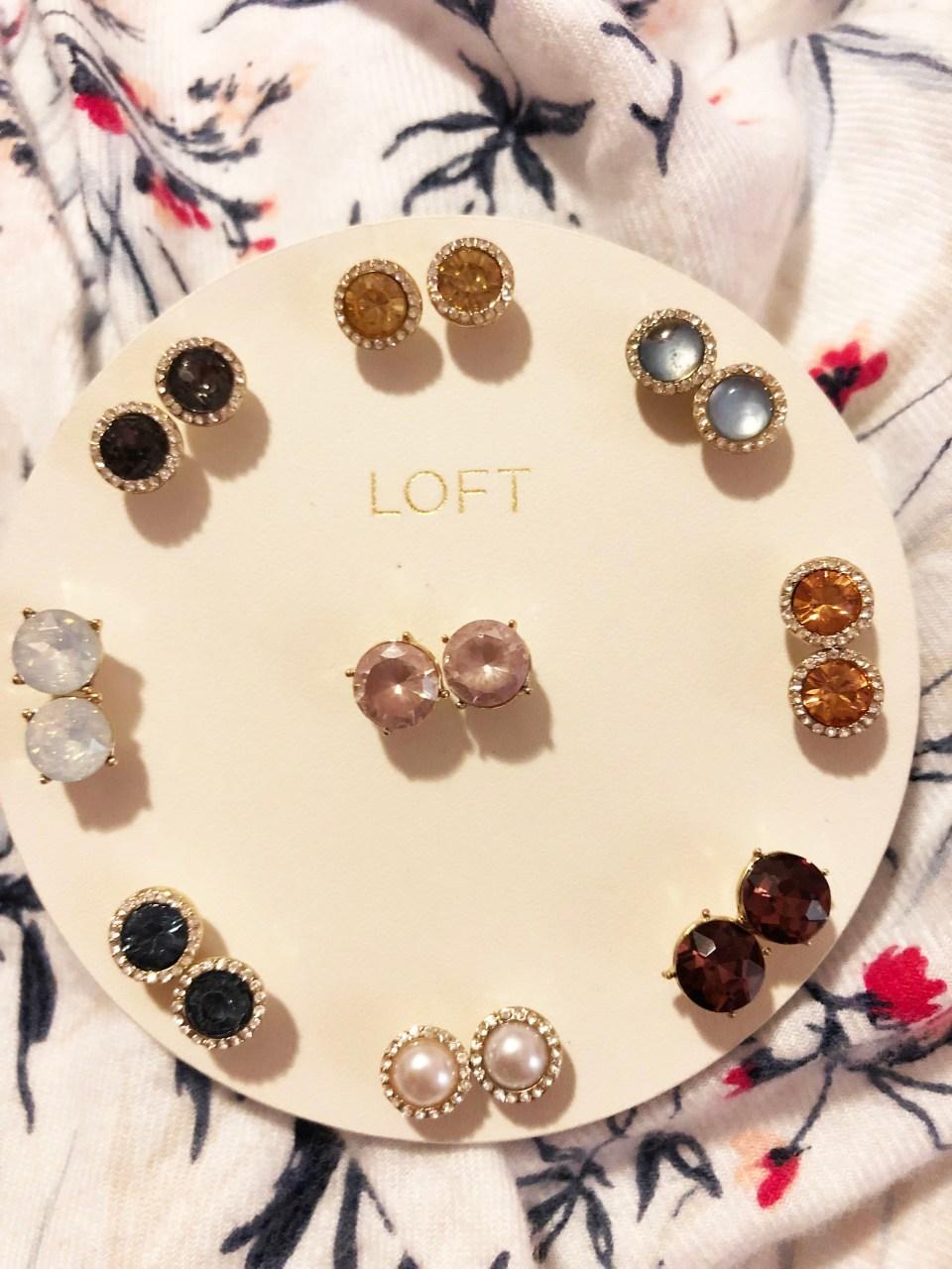LOFT stud earring set