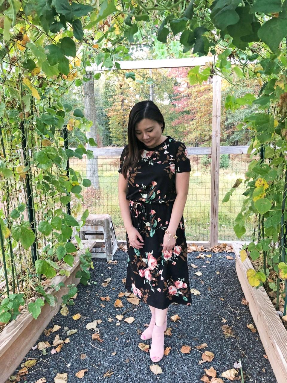 Large Floral Midi Dress 1
