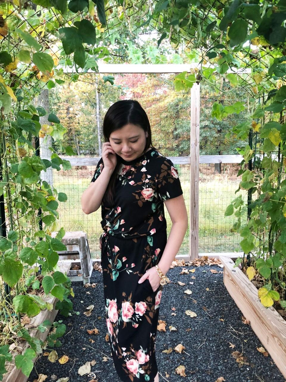 Large Floral Midi Dress 12