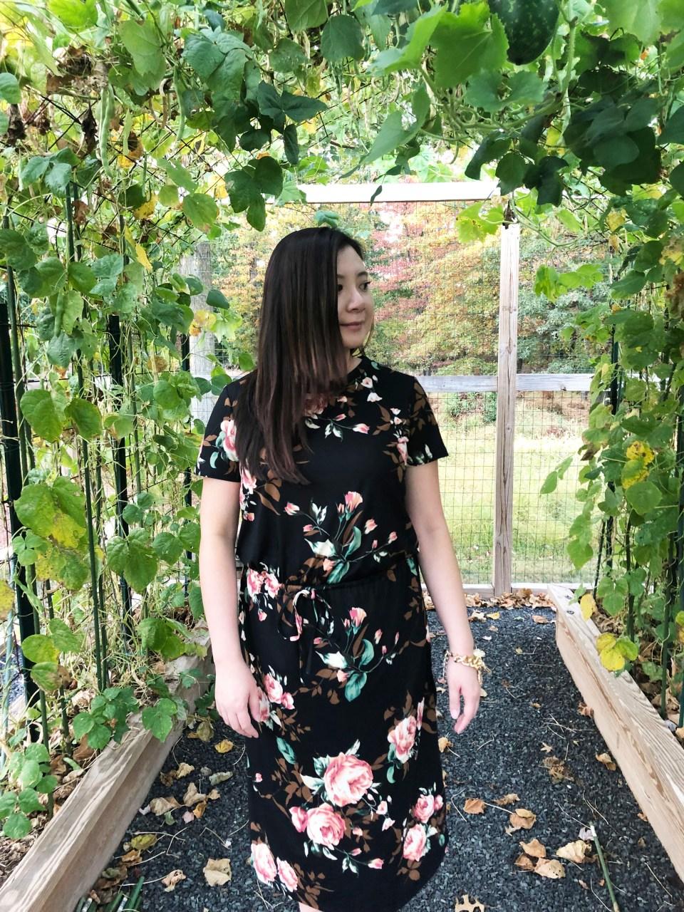 Large Floral Midi Dress 15