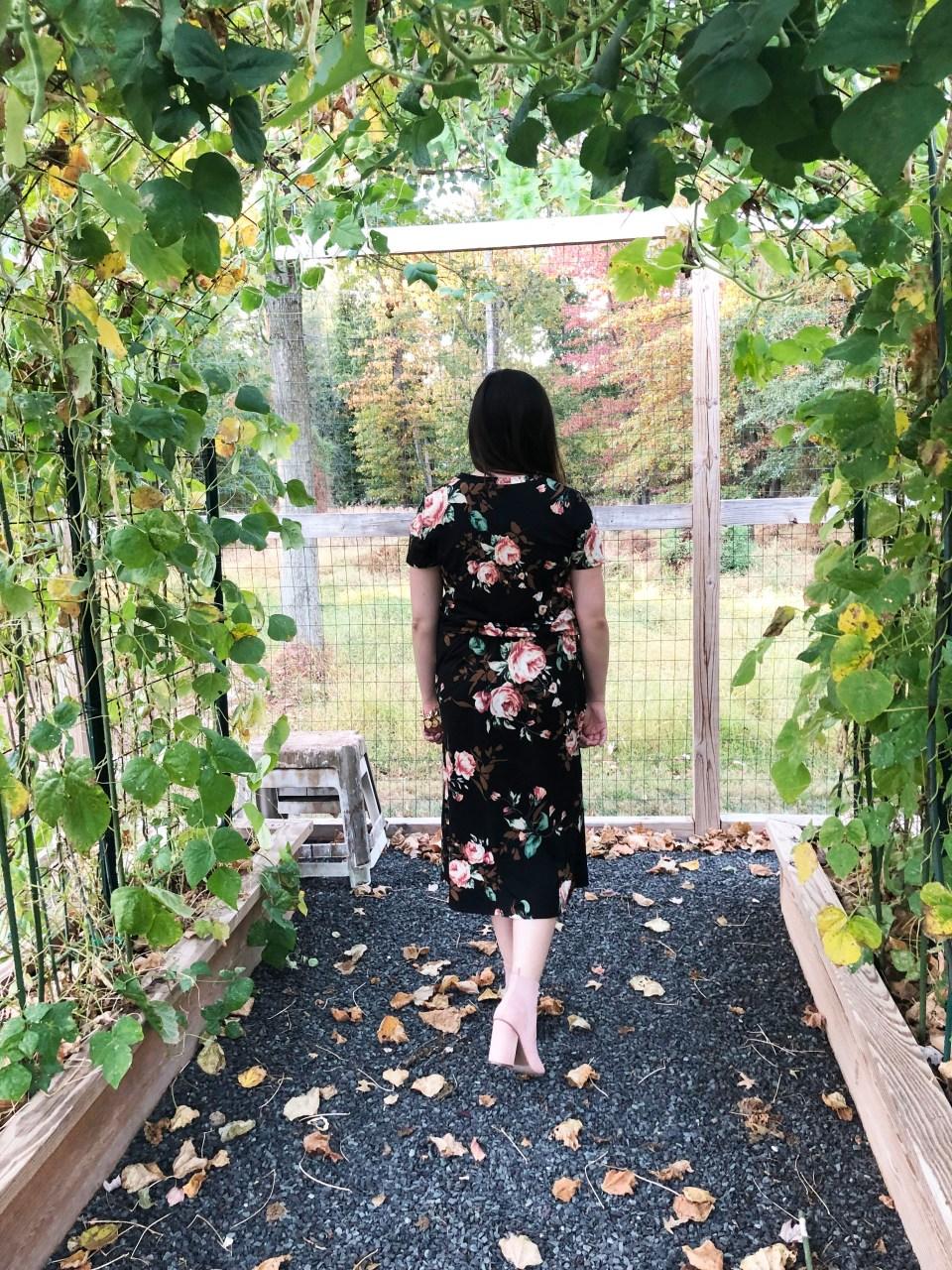 Large Floral Midi Dress 4