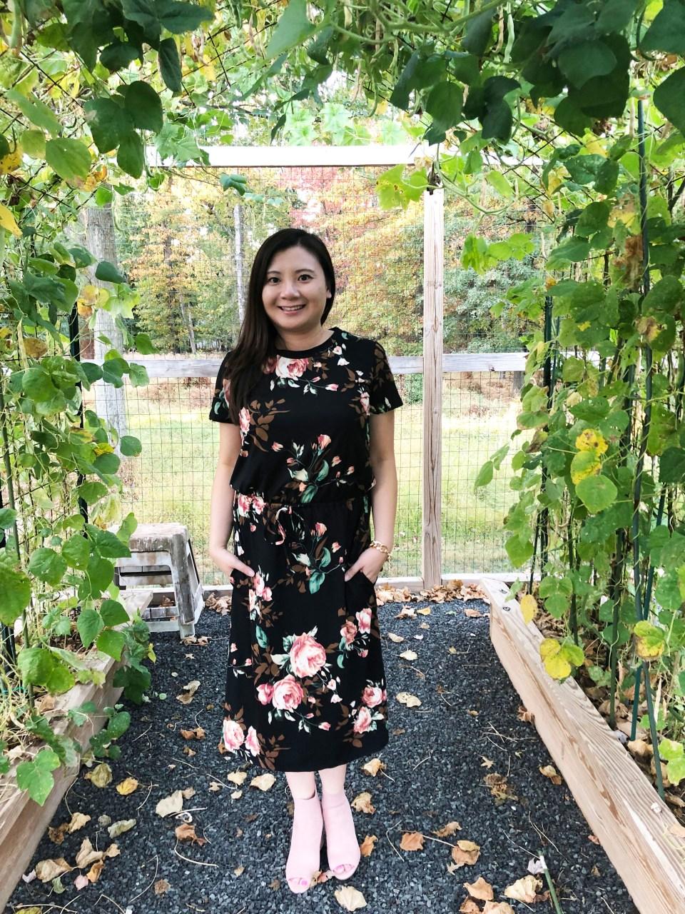 Large Floral Midi Dress