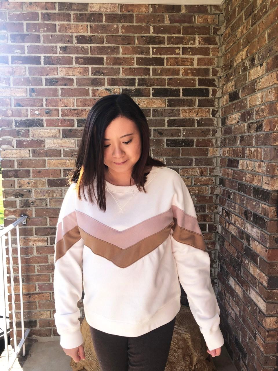 Chevron Colorblock Sweatshirt 10