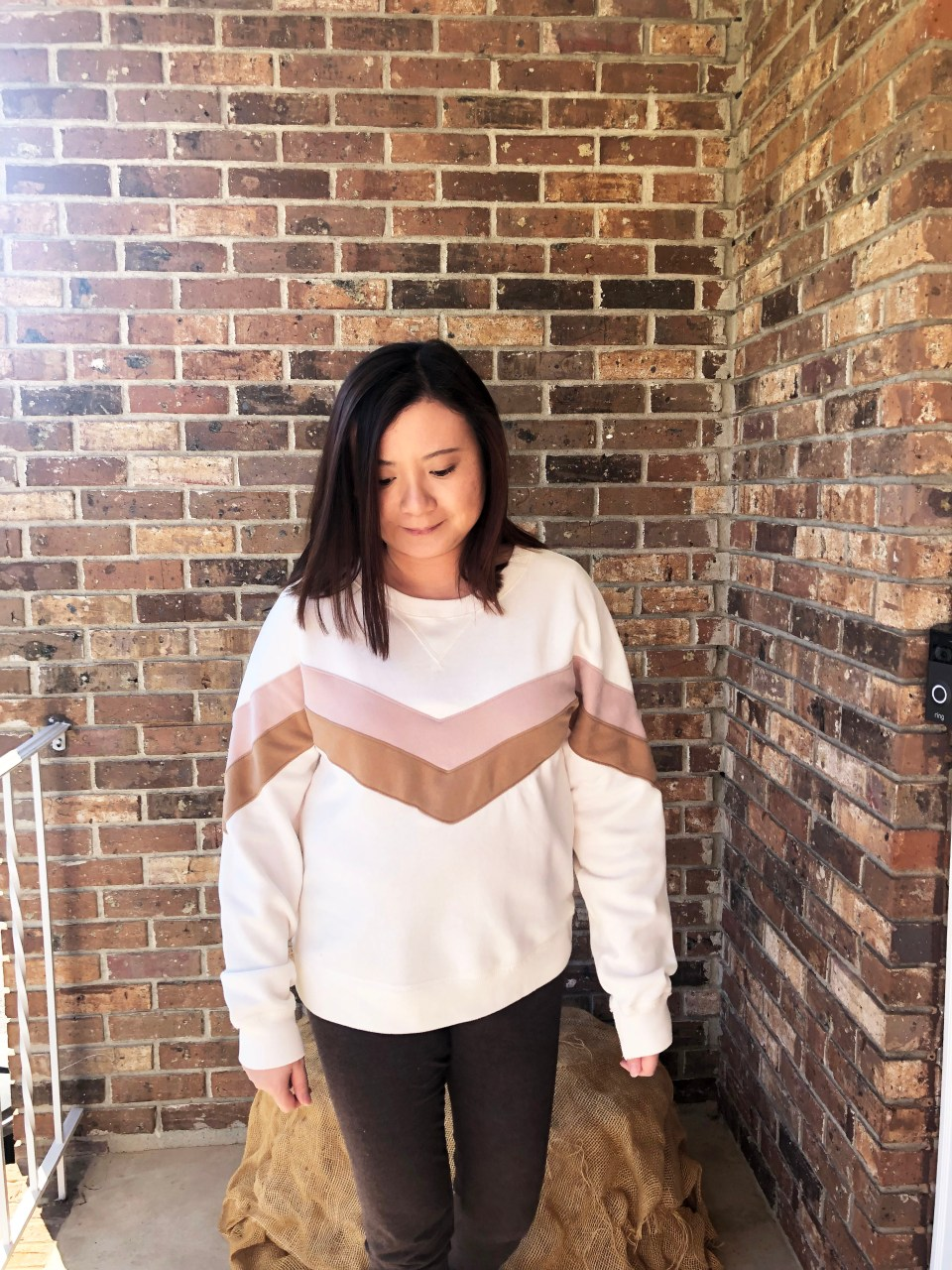 Chevron Colorblock Sweatshirt 9