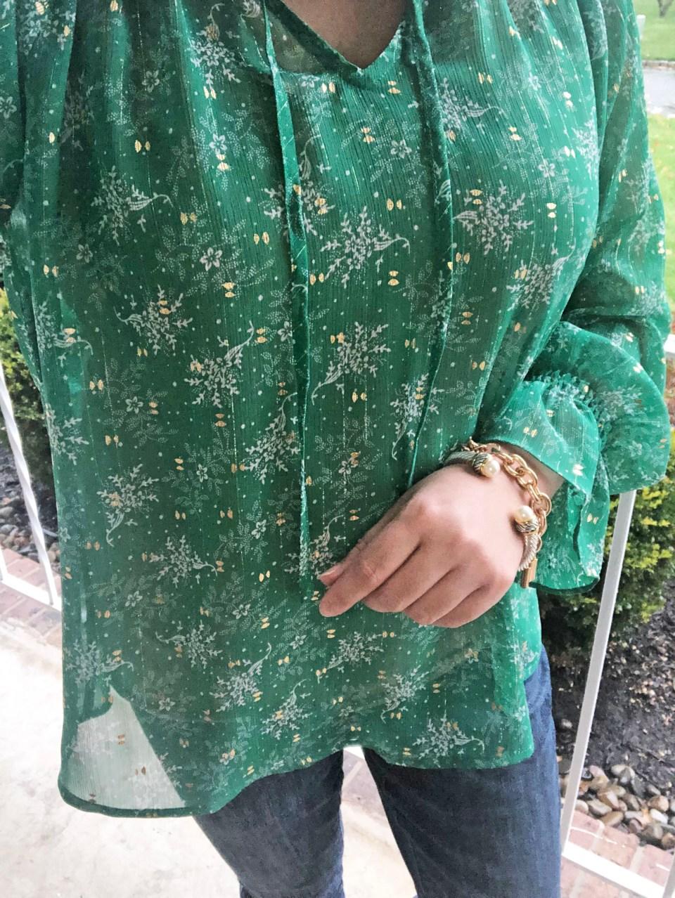 Leaves of Gold Shimmer Blouse 17