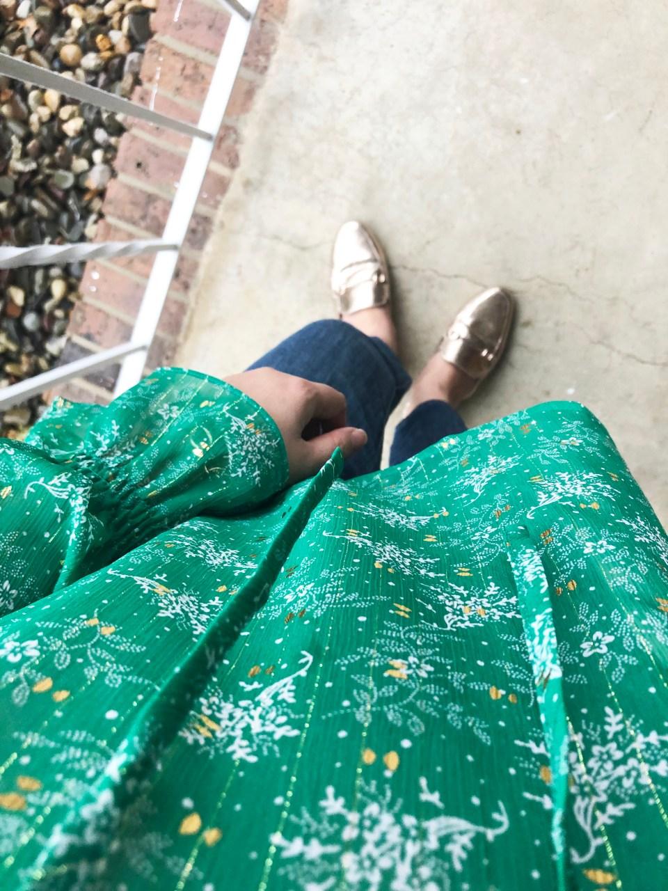 Leaves of Gold Shimmer Blouse 18