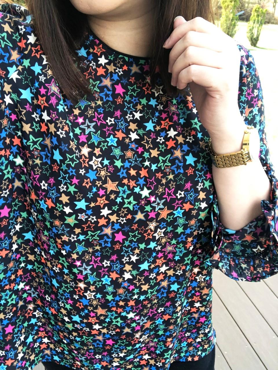 Multicolor Star Blouse 19