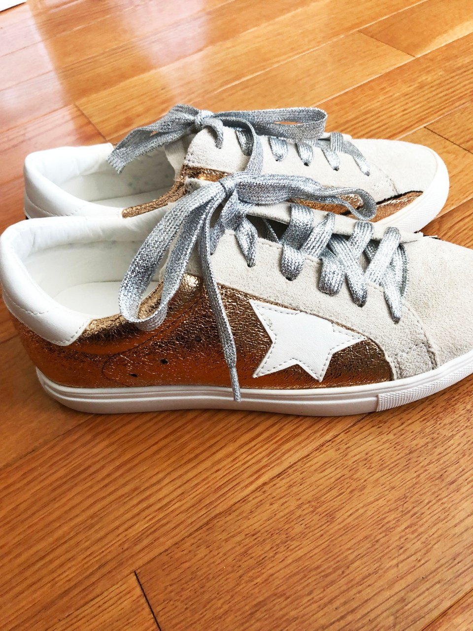 Rose Gold Star Sneakers 2