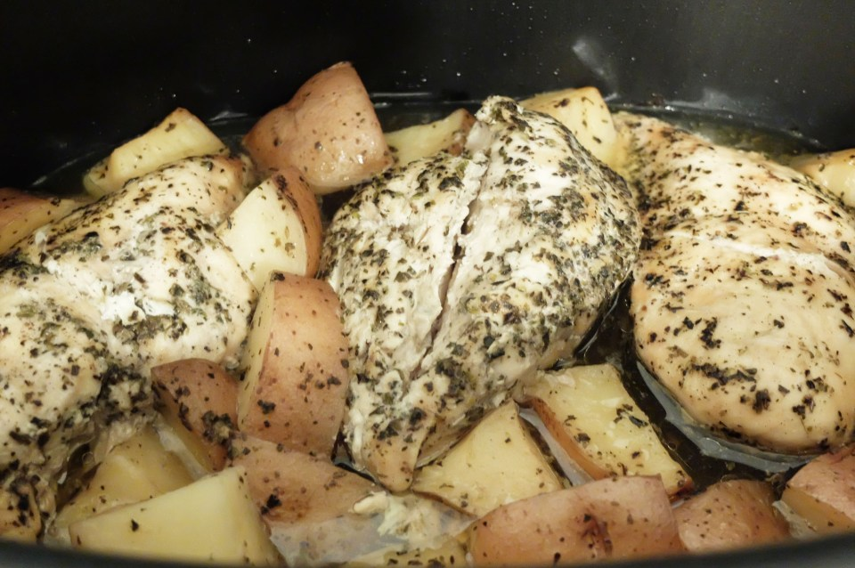 Slow Cooker Italian Chicken & Potatoes 7