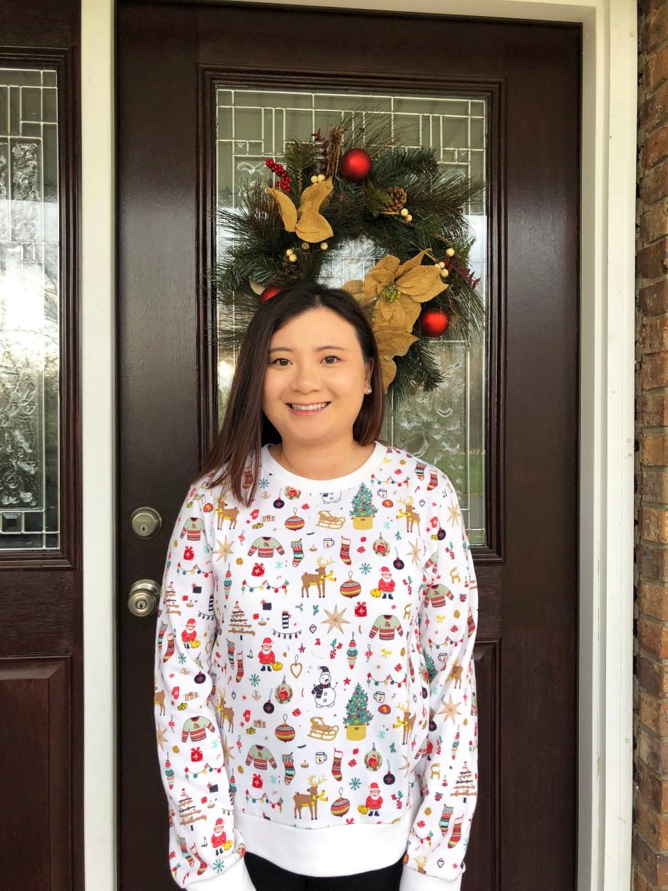 Christmas Graphic Fleece Sweatshirt 10