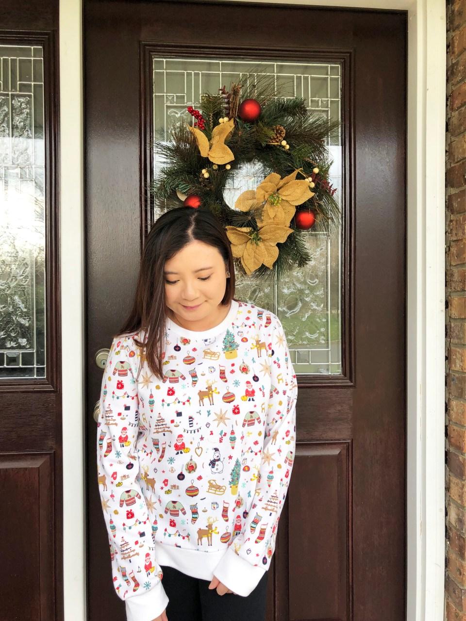 Christmas Graphic Fleece Sweatshirt 11