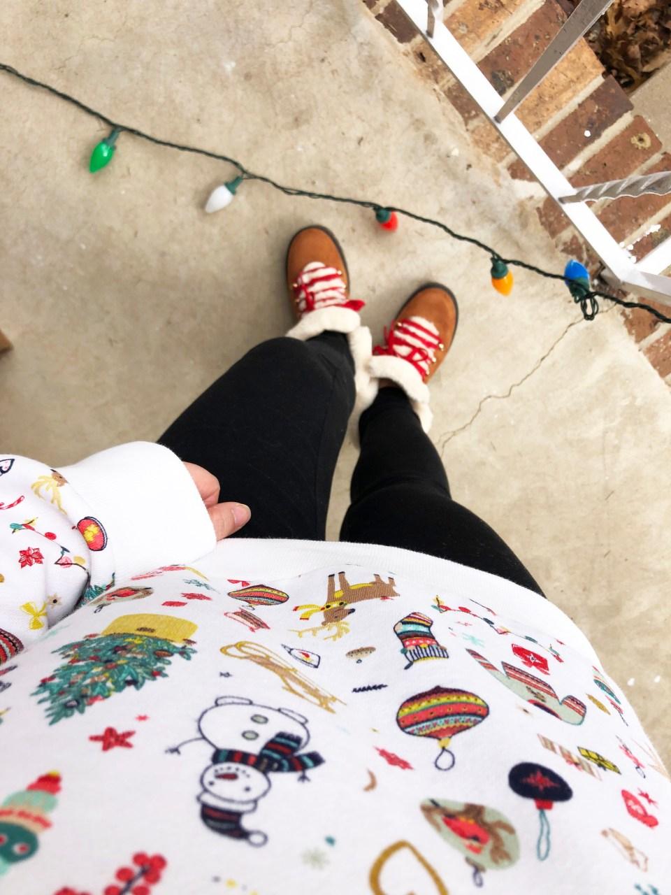 Christmas Graphic Fleece Sweatshirt 13