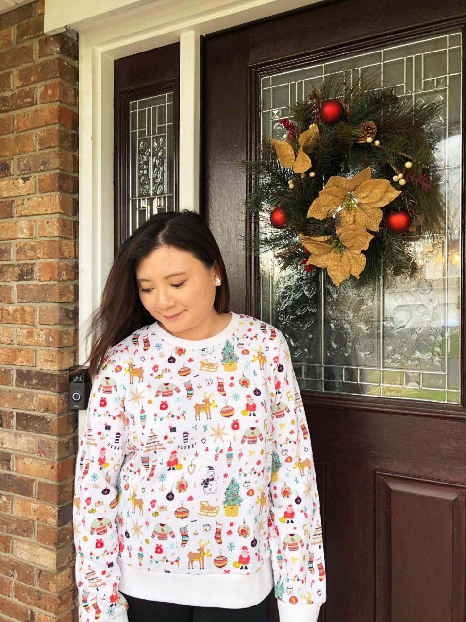 Christmas Graphic Fleece Sweatshirt 8