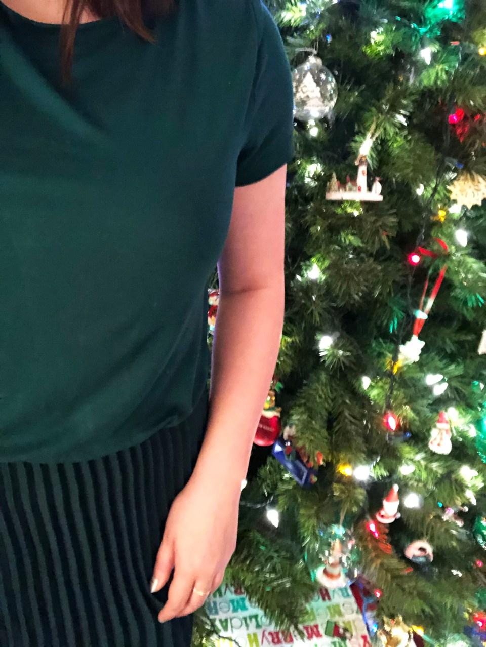Emerald Green Pleated Midi Dress 18