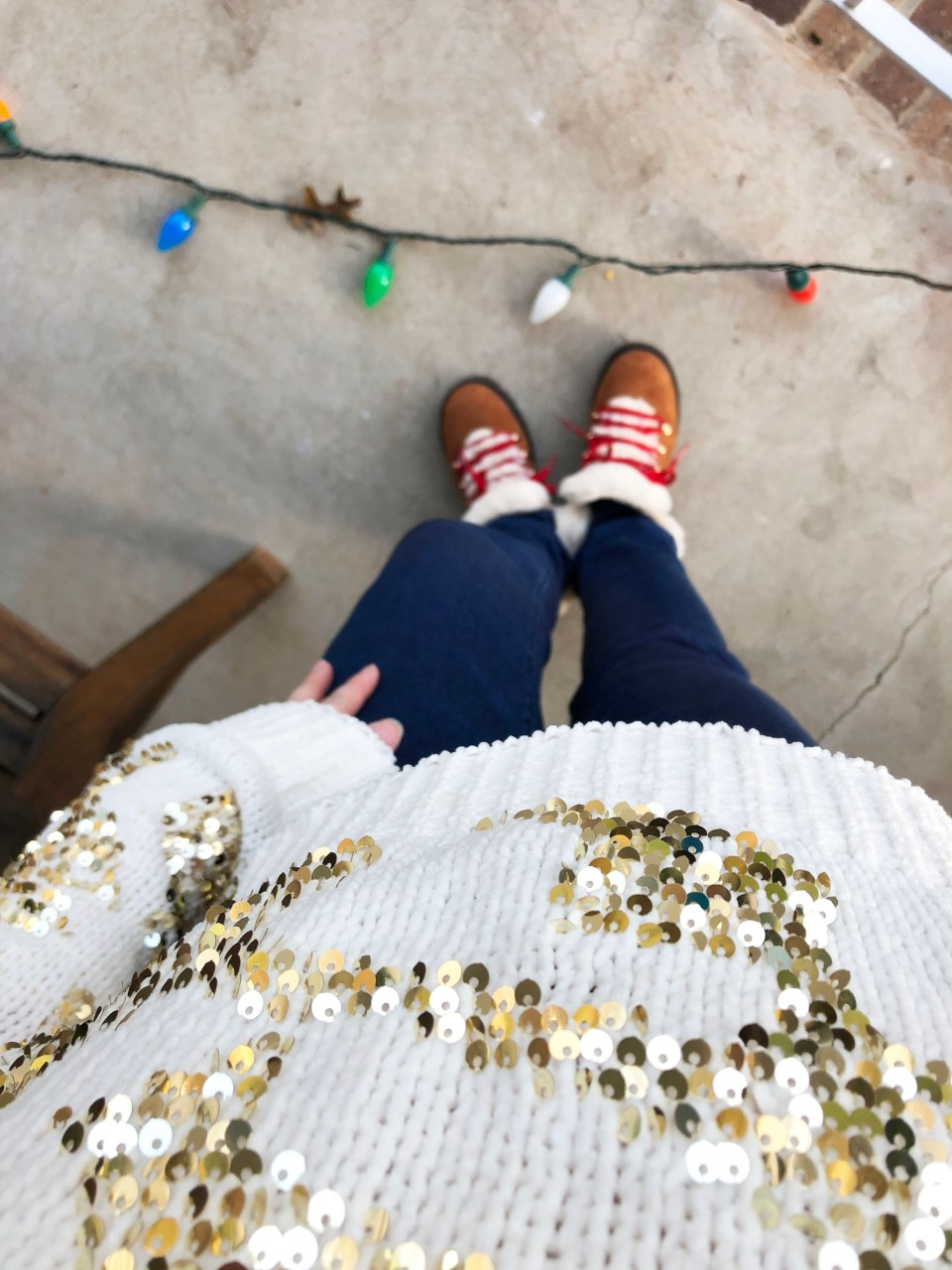 Gold Sequin Sweater 16