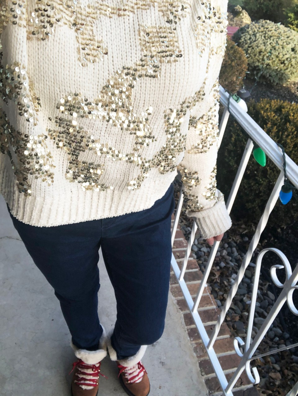Gold Sequin Sweater 17