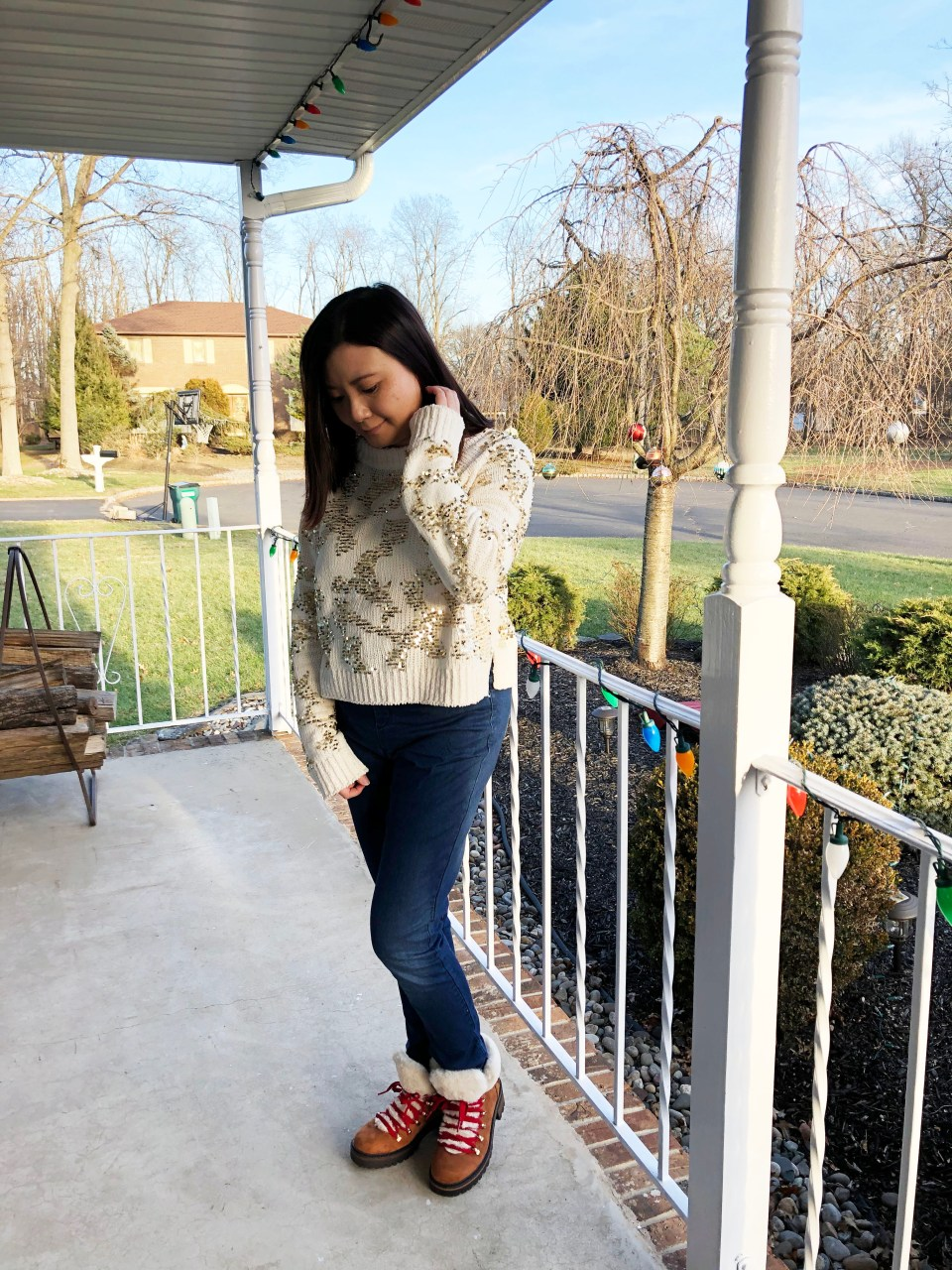 Gold Sequin Sweater 3