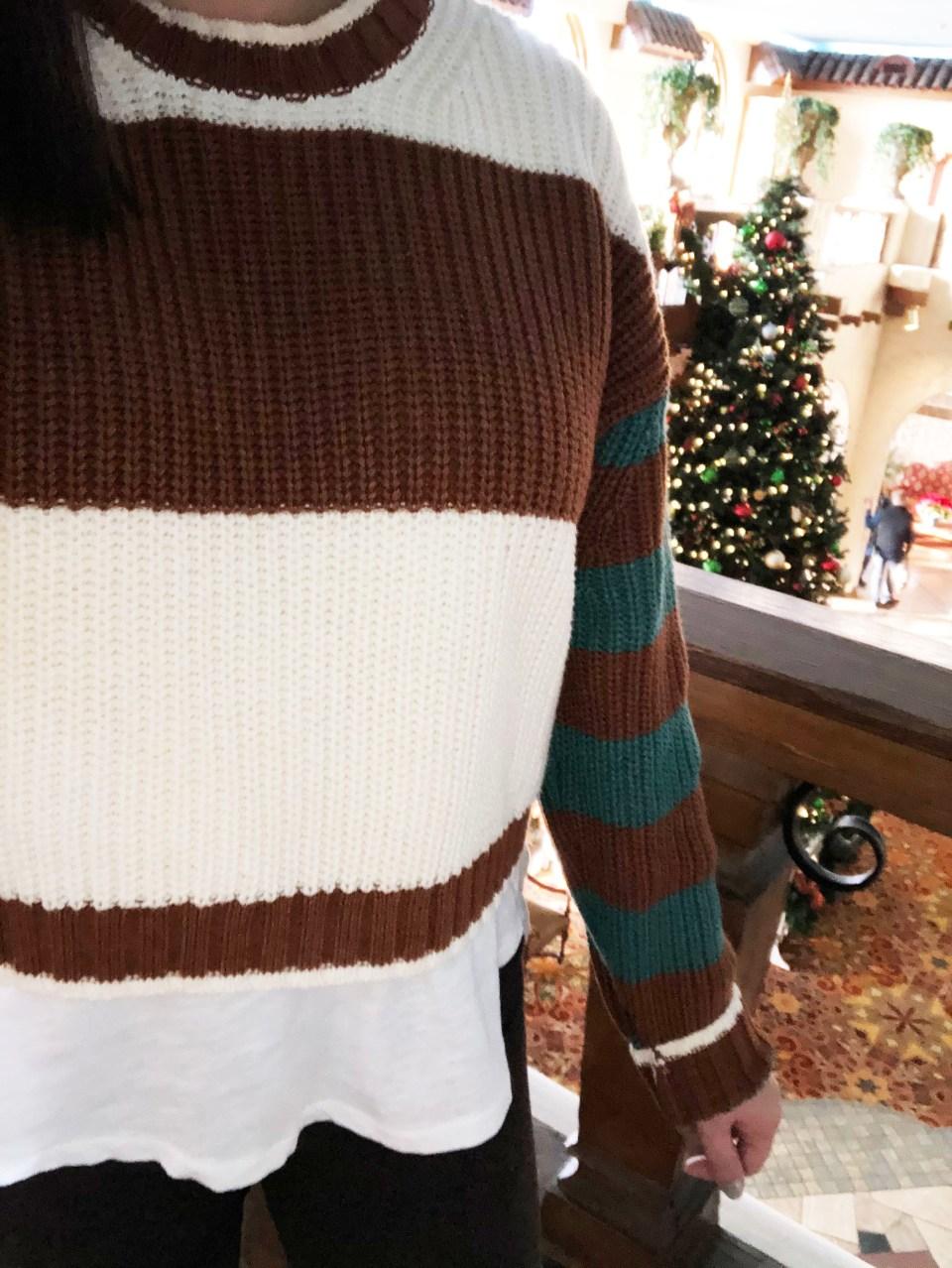 Mixed Stripe Boxy Sweater 17