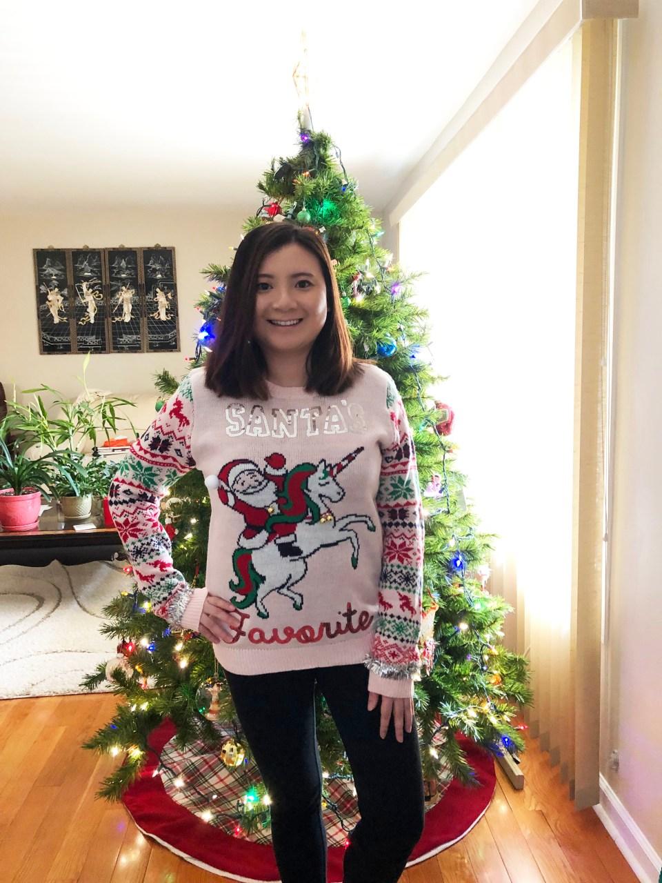 Santa & Unicorn Christmas Sweater 1