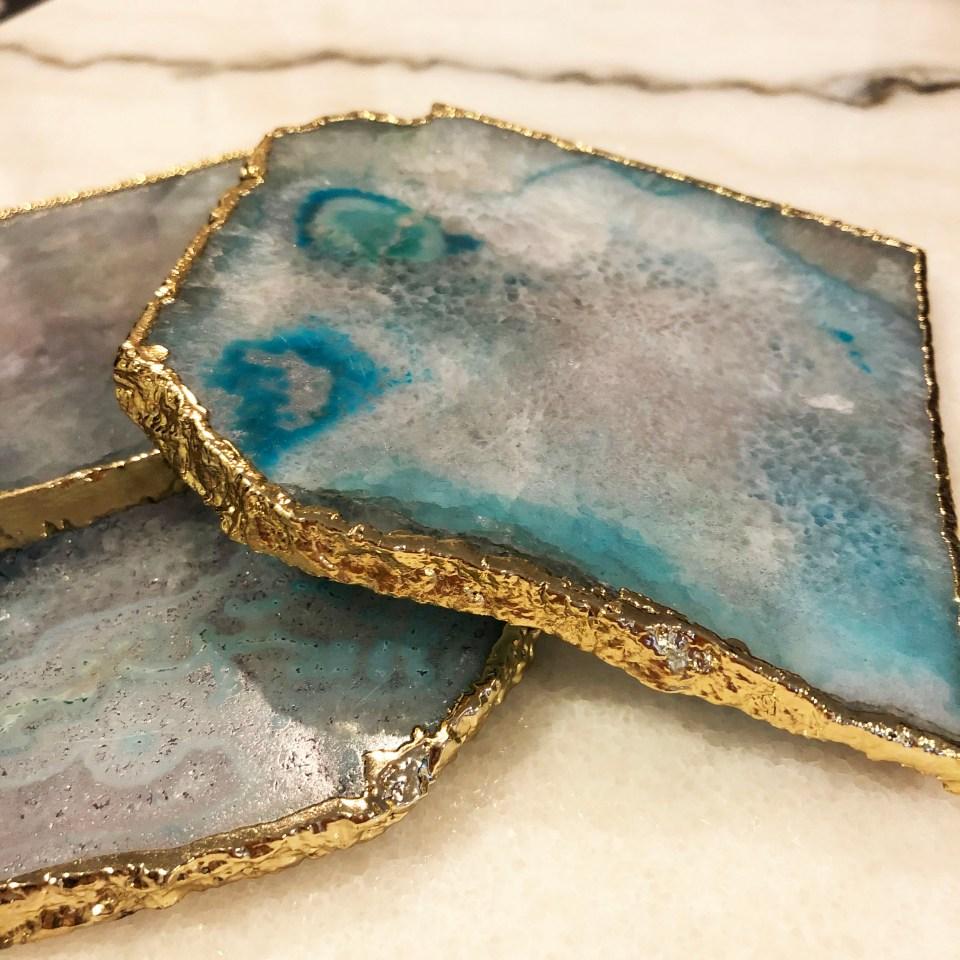 Blue Agate Coasters 2