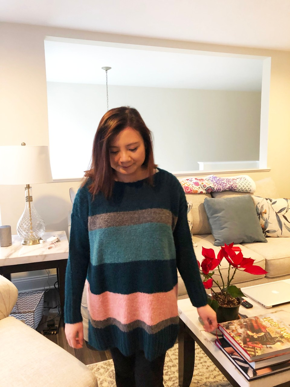 Colorblock Poncho Sweater 12
