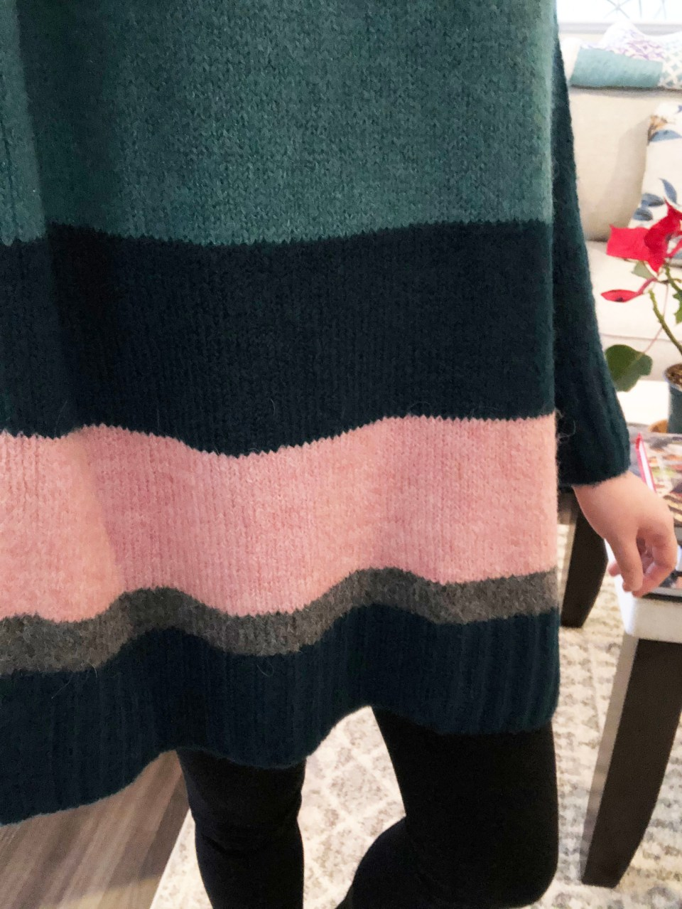 Colorblock Poncho Sweater 14