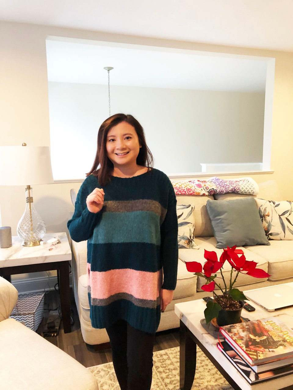 Colorblock Poncho Sweater 7