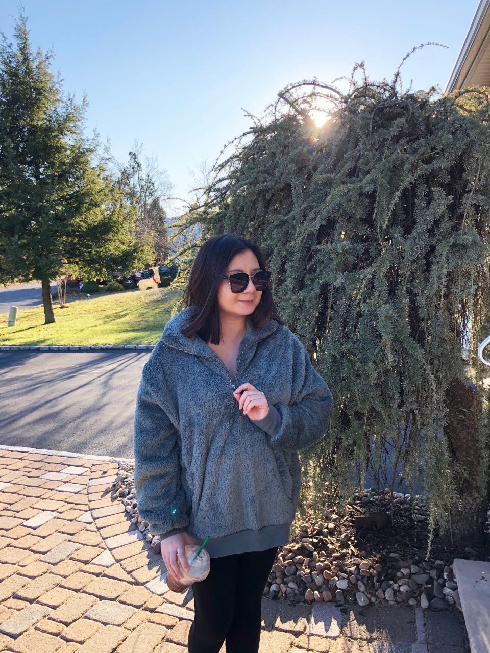Dusty Sage Fleece Pullover 11