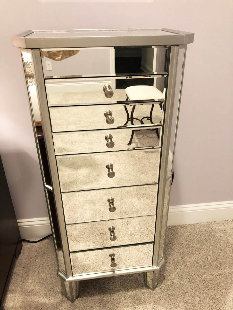 Mirrored Jewelry Armoire 4