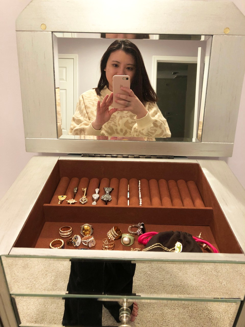 Mirrored Jewelry Armoire 5