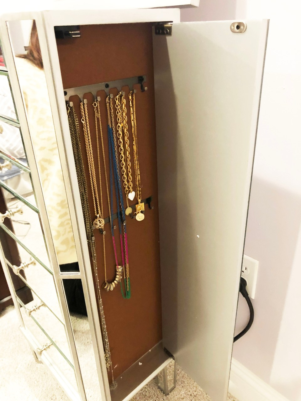 Mirrored Jewelry Armoire 9