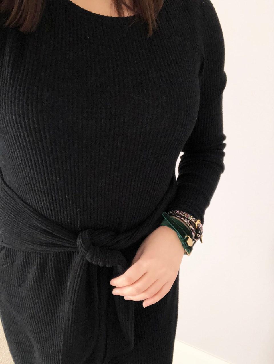Velvet + Sequins Double Wrap Bracelets 5