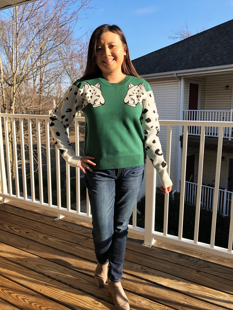 Leopard Sleeve Sweater 5